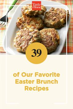 Entertain family and friends with these dreamy dishes. From French toast and egg casseroles to fruit salad and homemade doughnuts, find Easter brunch recipes your guests will love! Brunch Dishes, Brunch Recipes, Breakfast Recipes, Oven French Toast, Rhubarb Compote, Egg Casserole, Ham And Cheese, Easter Brunch, Doughnuts