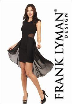 LBD | Little Black Dress | Frank Lyman Collection. #lbd #littleblackdress #franklyman #evening #formal #black