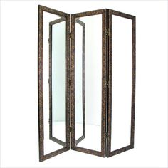 Gorgeous Full Length Mirror Three Panel Arch Floor Screen | Room ...