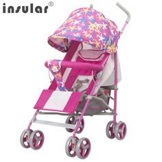>> Click to Buy << 2017 NEW Arrival Lovely Colorful Star Printing Baby Stroller Portable Folding Can Sit Can Lie Down Summer BabyStroller #Affiliate