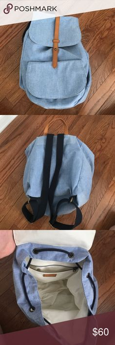 💗 NWT 💗 JCrew backpack Super cute and practical j crew backpack.  100% cotton, with pockets inside and outside.  New with tags. J. Crew Bags Backpacks