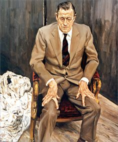 Man in a Chair, Lucian Freud Medium: oil,canvas Lucian Freud Portraits, Lucian Freud Paintings, Willem De Kooning, Gil Elvgren, Sigmund Freud, Helen Frankenthaler, Jackson Pollock, Oil Canvas, Exhibition