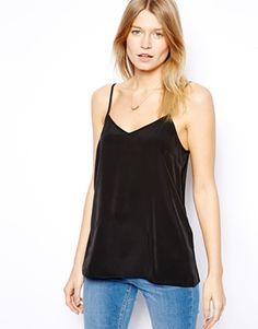 Image 1 of ASOS Longline Woven Cami Top