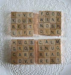 Scrabble Coasters-set of 4Inspirational by dianeziegler on Etsy