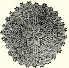 Салфетка 7.  Э.Критеску 'Художественное вязание спицами'