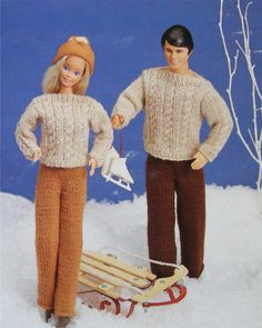 PDF Dolls Clothes Knitting Pattern : 11  12 by PDFKnittingCrochet