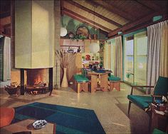 1963 Colorful Contemporary Beach House by American Vintage Home, via Flickr