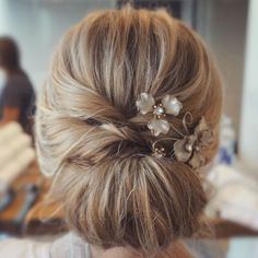 Chignon show-stopper. Updo by Sarah at The Bride Bar in Columbus, Ohio