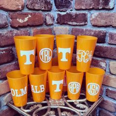 Tennessee Vols Cup - Custom, Personalization, Monogram, Orange, Gift, Birthday, Graduation, Housewarming, Football Fan, SEC, UT on Etsy, $5.00