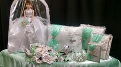Karen's Bridal & Gifts makes 15 Añera and Wedding sets in your colors, theme, and can add your name!! Look us up on Facebook. 317 W Tulare Ave Tulare CA 93274  (559) 684-8355