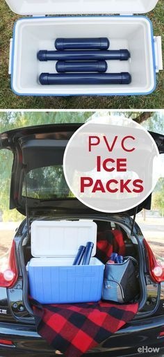 When camping, tailgating or going on a picnic, keeping food and drinks chilled is top priority. Instead of using ice, which melts and creates a slushy mess, make your own ice packs using PVC pipe. This is a more efficient method for transport and cleanup: www.ehow.com/...