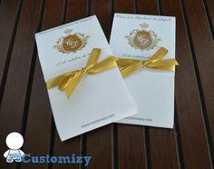 Para que seus convidados não precisem segurar as lágrimas. <br> <br>Envelope impresso em papel couchê 170g, com laço em fita de cetim. <br> <br>Acompanha 2 lenços de papel. <br> <br>Fazemos personalizado de acordo com o evento.