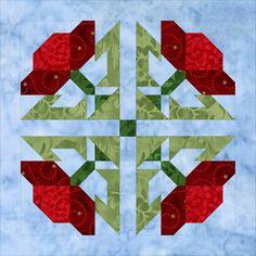 Block 5 Poppy  Mystery Block of the Month