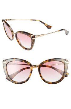 Sonix Melrose 51mm Gradient Cat Eye Sunglasses