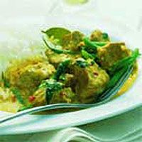 Red Thai-Style Pork Curry with Green Beans