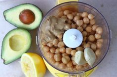 Avocado and chickpea hummus! Delish
