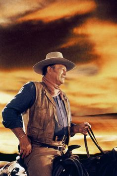 John Wayne- used to watch his movies when I had sleepovers at my grandparents house. Love him