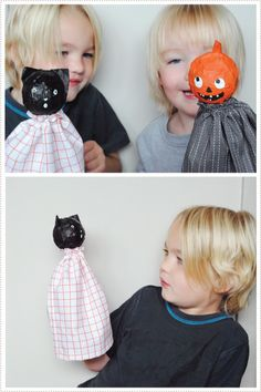 ...make some of these cute puppets with my kids!! Maybe not just for Halloween, but similar!