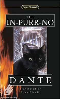 """Dante, a wonderful cat in adopt, has decided to publish a book! Here is what we're thinking for the cover art of Dante's """"In-Purr-No"""""""