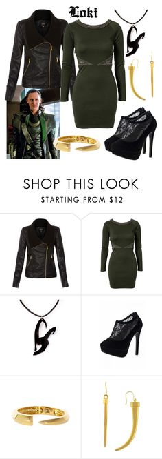"""""""Loki"""" by fandom-wardrobes ❤ liked on Polyvore featuring ONLY, NLY Trend, Quiz, Vince Camuto, Avengers, marvel and Loki"""