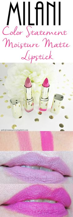 Notes from My Dressing Table: Milani Color Statement Moisture Matte Lipsticks | Review and Swatches