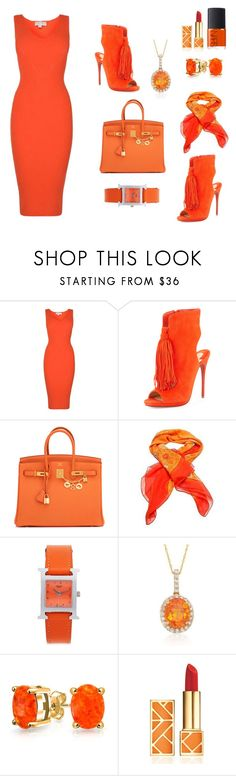 """Business #2"" by phat-panda ❤ liked on Polyvore featuring MICHAEL Michael Kors, Christian Louboutin, Hermès, Ross-Simons, Bling Jewelry, Tory Burch and NARS Cosmetics"