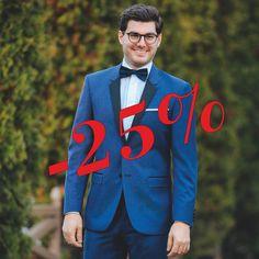 Ca să arătați și mai bine în noaptea de Revelion, aveți de la noi -25% promoții la smochinguri și la costume Black&Navy.