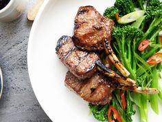 An easy marinated lamb recipe similar to Korean stir-fried beef (bulgogi).