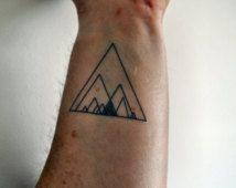 Geometric Triangle Temporary Tattoo