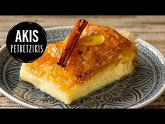 YouTube Dessert Party, Party Desserts, No Bake Desserts, Custard Pies, Custard Filling, Greek Sweets, Greek Desserts, Greek Recipes, Galaktoboureko Recipe