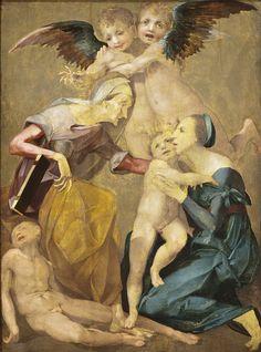 ROSSO FIORENTINO. Allegoria della Salvezza. Dipinto a olio su tavola, di dimensioni 161x117 cm. Databile al 1522, e conservato nel LACMA di Los Angeles.