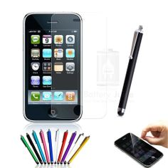 2x 5x 10x 20x High Quality Clear Screen Protectors & Stylus For iPhone 3 3G 3GS