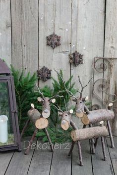 Sweet Christmas decoration to make yourself. Source: dec - Craft For Teenagers Creative Noel Christmas, Rustic Christmas, Winter Christmas, All Things Christmas, Christmas Ornaments, Outdoor Christmas, Winter Snow, Christmas Lights, Reindeer Christmas