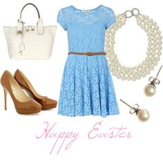 Happy Easter, created by mlentows on Polyvore