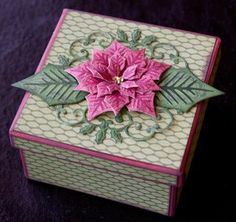 Layered Poinsettia die set from @Spellbinders using @Xyron Inc. Inc. adhesive