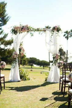 30 Eye-catching Wedding Altars for Wedding Ceremony Ideas wedding altar designs for country rustic outdoor wedding ceremony ideas Altar Design, Floral Arch, Ceremony Decorations, Ceremony Backdrop, Church Decorations, Backdrop Ideas, Backdrop Decor, Summer Wedding Decorations, Outdoor Decorations