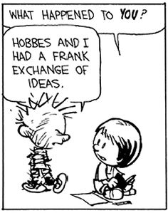 Calvin and Hobbes with Susie