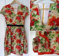 Honigdesign: The Garden Party Dress - Free Pattern UK Sz. 8-16 (US 6-14 or Small- Lg/XL). Click on the 'Patterns' link at the top right of the page for the free pattern and six design variations of the same!! The long sleeve winter version is too cute, so much you can do with this dress!!