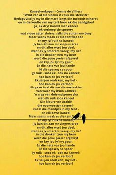 Afrikaans, Poems, Lyrics, Positivity, Quotes, Quotations, Poetry, Verses, Song Lyrics