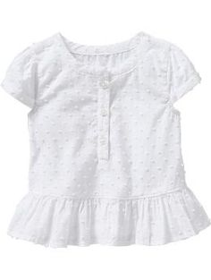 Swiss Dot Peplum Tops for Baby | Old Navy