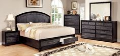 Bridger Collection Bed With Storage Footboard CM7681
