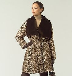 Vogue 1024 coat with belt. Out of  print pattern by Sandra Betzina
