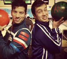 Josh didn't have dyed hair and tyler didn't have tattoos--- ♡ old twenty one pilots pictures // bowling // tyler joseph // josh dun // skeleton clique