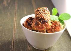 Mini Sticky, Sweet & Spicy Sesame Chicken Meatballs