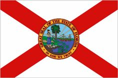 Florida:Day Activity, Make the State Flag **Website is for a visual aid to help in the craft*** Florida State Flag, Florida Girl, Visit Florida, States And Capitals, U.s. States, States Flags, United States, Florida Sunshine, Sunshine State