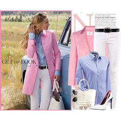 A fashion look from September 2014 featuring wool blazer, low rise skinny jeans and leather pumps. Browse and shop related looks. Casual Work Outfits, Classy Outfits, Trendy Outfits, Fashion Outfits, Womens Fashion, Look Oxford, Classy Casual, What To Wear, Clothes For Women