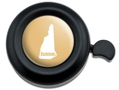 Amazon.com : Cool and Custom {Fully Adjustable to Fit Most Bikes} Bicycle Handlebar Bell Made of Hard Metal with New Hampshire Home State Design {Black, Yellow and White Colors} : Sports & Outdoors