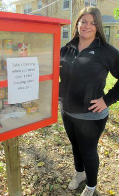 """Similar to """"little free library"""" boxes that are filled with free books, these """"blessing boxes"""" are stocked with food and toiletries for people in need to take — anonymously and whenever they want."""