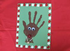 Handprints reindeer