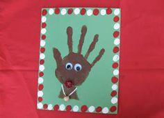 Handprint Rudolph Craft: Christmas Crafts - Easy Crafts for Kids - Kaboose.com
